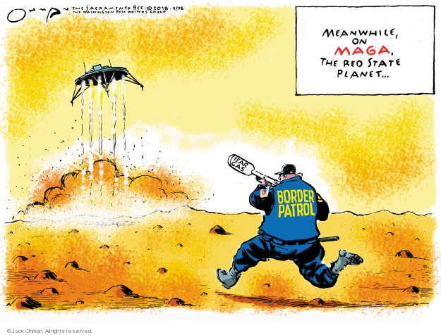 Cartoonist Jack Ohman  Jack Ohman's Editorial Cartoons 2018-11-27 Presidency