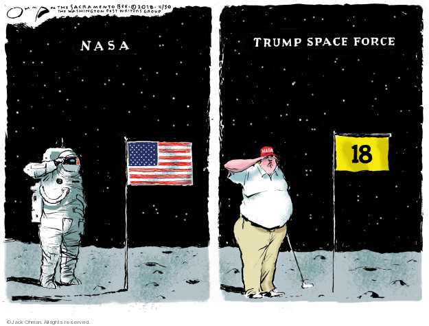 Cartoonist Jack Ohman  Jack Ohman's Editorial Cartoons 2018-11-30 military