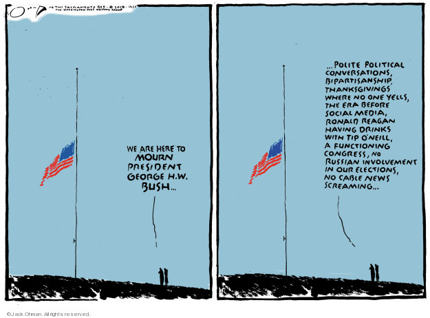 Jack Ohman  Jack Ohman's Editorial Cartoons 2018-12-06 Bush administration