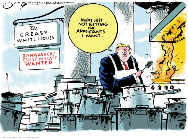Jack Ohman  Jack Ohman's Editorial Cartoons 2018-12-11 presidential cabinet
