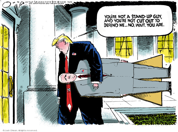 Jack Ohman  Jack Ohman's Editorial Cartoons 2018-12-13 Trump Immigration