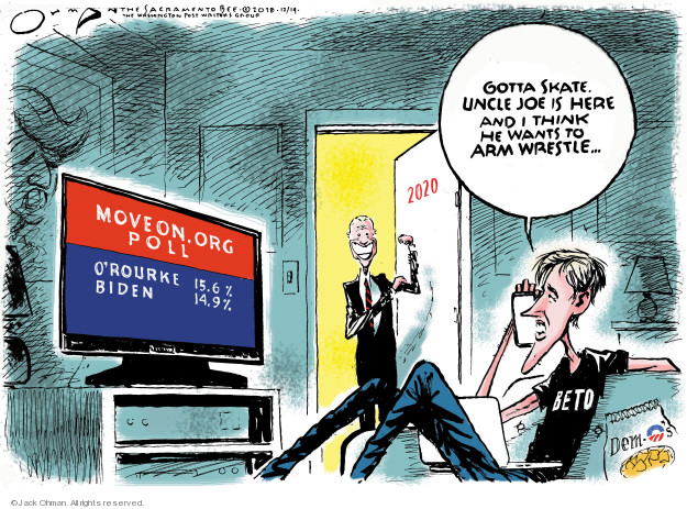 Cartoonist Jack Ohman  Jack Ohman's Editorial Cartoons 2018-12-14 Beto O'Rourke