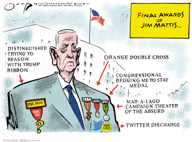 Cartoonist Jack Ohman  Jack Ohman's Editorial Cartoons 2019-01-01 honor