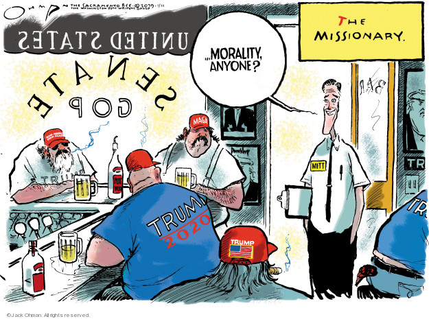 Jack Ohman  Jack Ohman's Editorial Cartoons 2019-01-11 Mitt Romney