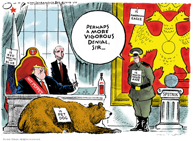 Cartoonist Jack Ohman  Jack Ohman's Editorial Cartoons 2019-01-15 interference