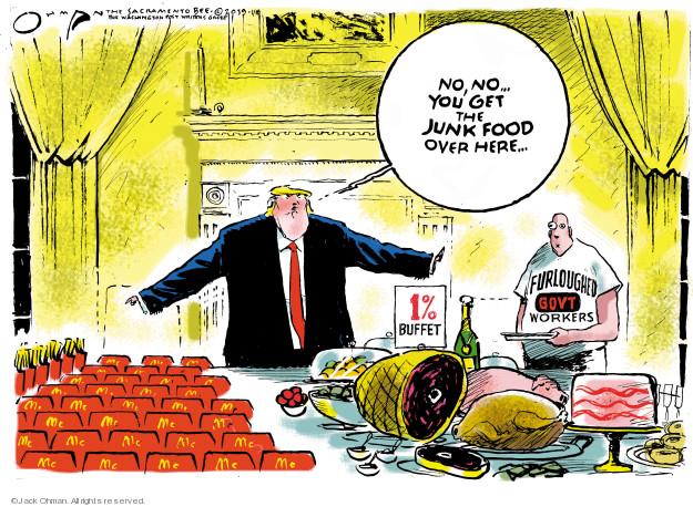 Jack Ohman  Jack Ohman's Editorial Cartoons 2019-01-18 junk food