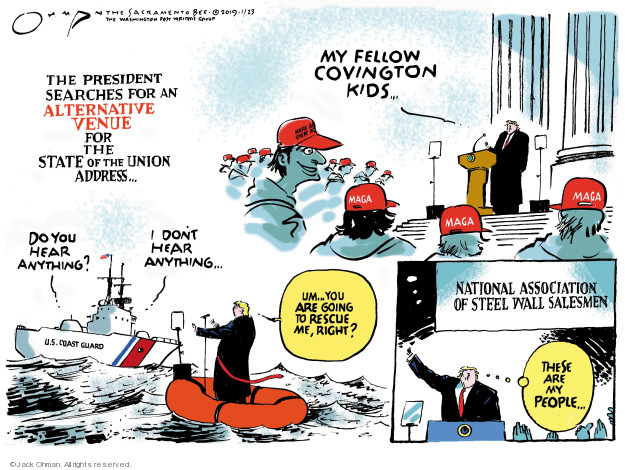 Cartoonist Jack Ohman  Jack Ohman's Editorial Cartoons 2019-01-23 congressional leadership