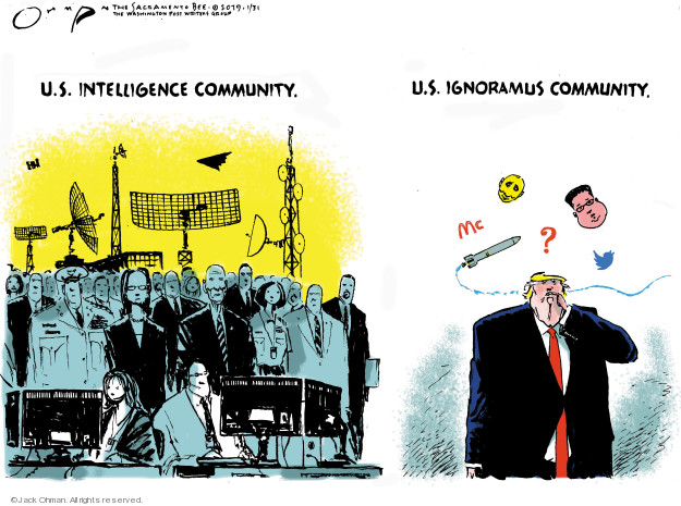 Cartoonist Jack Ohman  Jack Ohman's Editorial Cartoons 2019-01-31 CIA