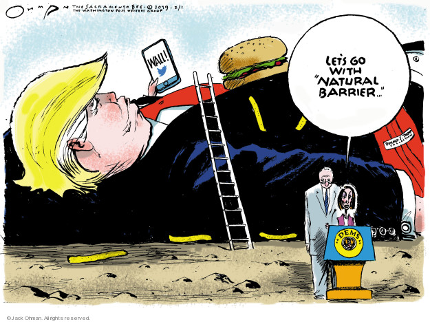 Cartoonist Jack Ohman  Jack Ohman's Editorial Cartoons 2019-02-01 congressional leadership