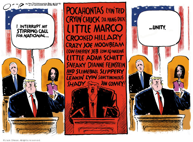 Cartoonist Jack Ohman  Jack Ohman's Editorial Cartoons 2019-02-06 Ted Cruz