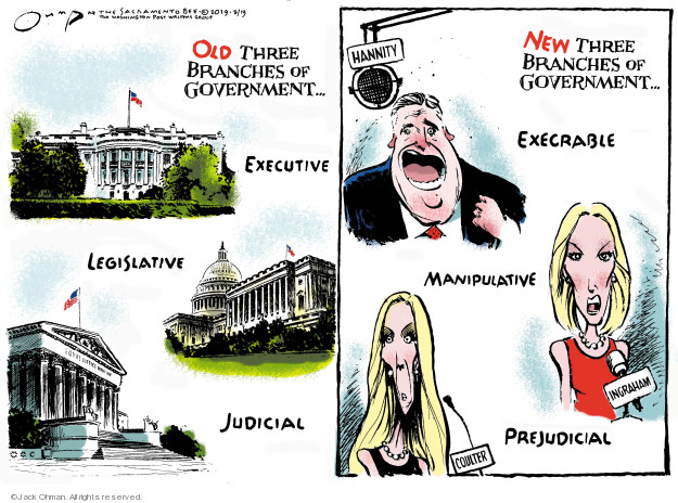 Cartoonist Jack Ohman  Jack Ohman's Editorial Cartoons 2019-02-13 executive branch