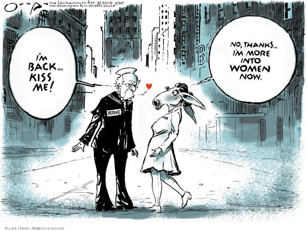 Cartoonist Jack Ohman  Jack Ohman's Editorial Cartoons 2019-02-20 Bernie Sanders