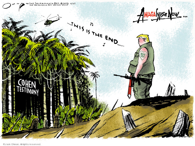 Jack Ohman  Jack Ohman's Editorial Cartoons 2019-02-27 lawyer