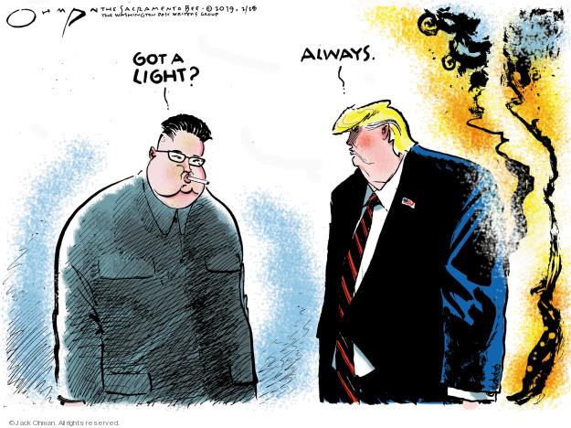 Jack Ohman  Jack Ohman's Editorial Cartoons 2019-02-28 negotiation