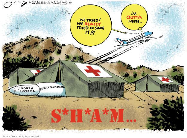 Jack Ohman  Jack Ohman's Editorial Cartoons 2019-03-01 negotiation