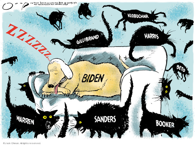 Cartoonist Jack Ohman  Jack Ohman's Editorial Cartoons 2019-03-07 dog