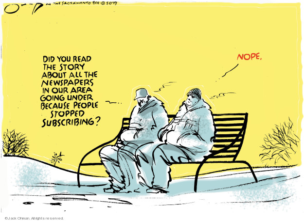 Jack Ohman  Jack Ohman's Editorial Cartoons 2019-03-10 media coverage