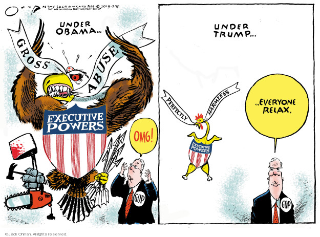 Cartoonist Jack Ohman  Jack Ohman's Editorial Cartoons 2019-03-15 Obama administration