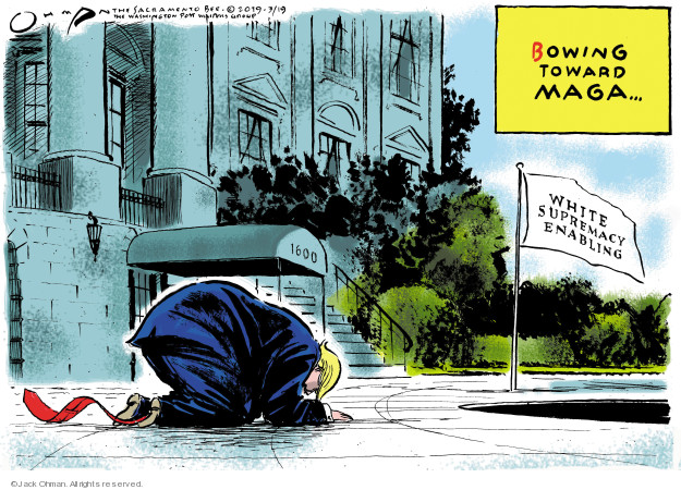 Cartoonist Jack Ohman  Jack Ohman's Editorial Cartoons 2019-03-19 attack