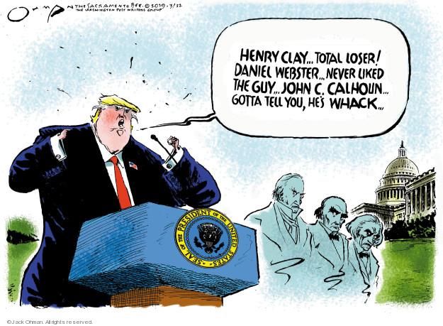 Cartoonist Jack Ohman  Jack Ohman's Editorial Cartoons 2019-03-22 senator