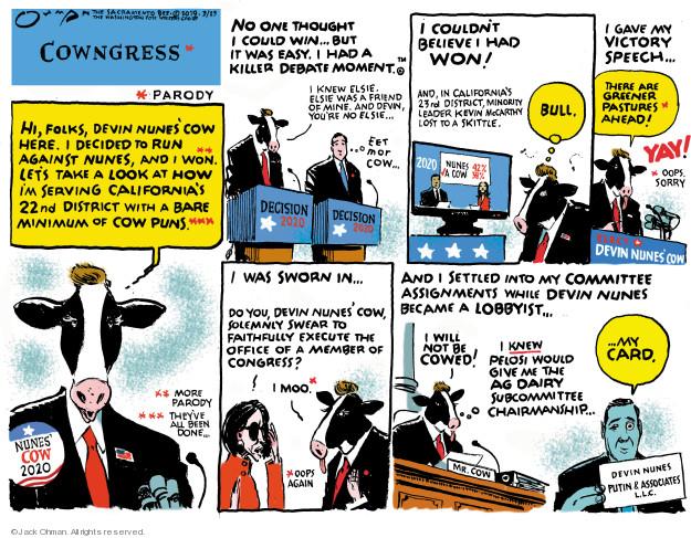 Jack Ohman  Jack Ohman's Editorial Cartoons 2019-03-23 editorial
