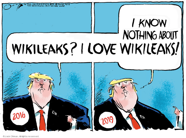 Wikileaks? I love I know nothing about Wikileaks! 2016 2019