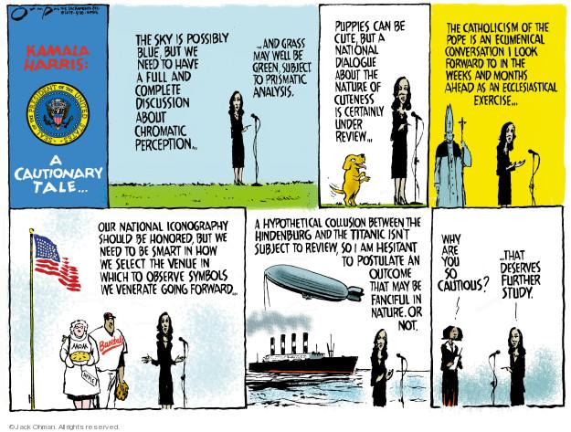 Cartoonist Jack Ohman  Jack Ohman's Editorial Cartoons 2019-04-28 Kamala Harris