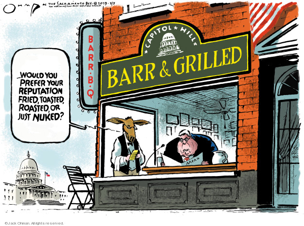 Cartoonist Jack Ohman  Jack Ohman's Editorial Cartoons 2019-05-03 Robert Mueller