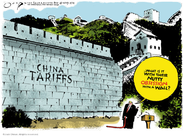 Jack Ohman  Jack Ohman's Editorial Cartoons 2019-05-14 international trade
