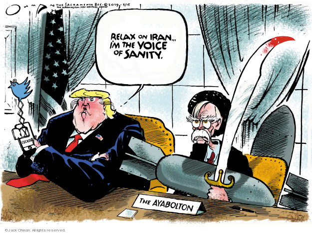 Jack Ohman  Jack Ohman's Editorial Cartoons 2019-05-15 international war