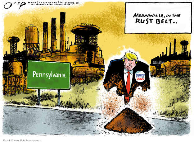 Meanwhile, in the rust belt … Pennsylvania. Trump Pence 2020.