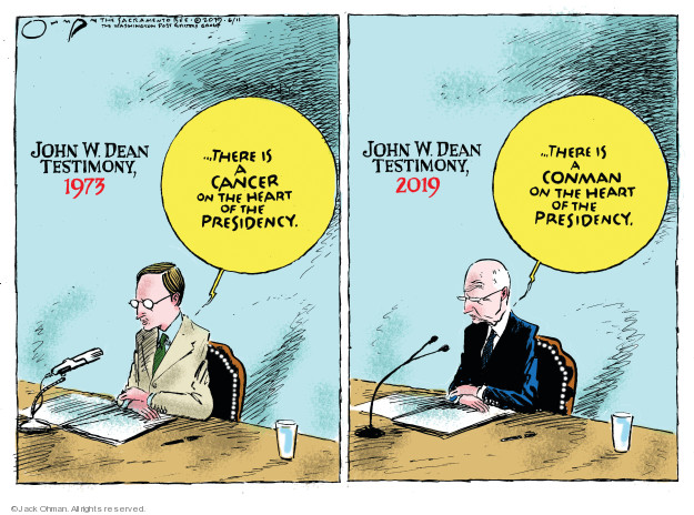 Cartoonist Jack Ohman  Jack Ohman's Editorial Cartoons 2019-06-11 Richard Nixon