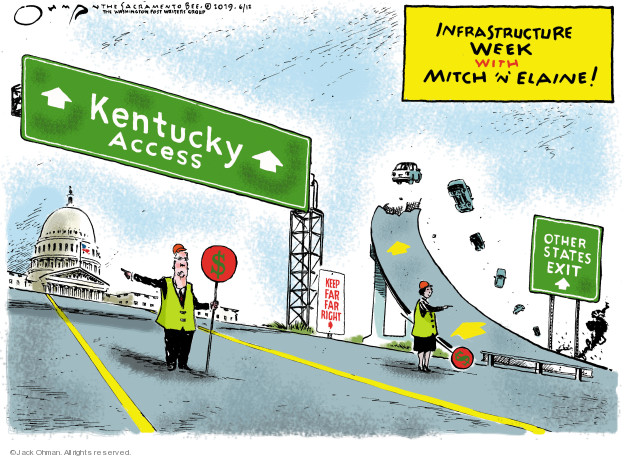 Infrastructure Week with Mitch n Elaine! Kentucky Access. Other states exit. Keep far far right. $