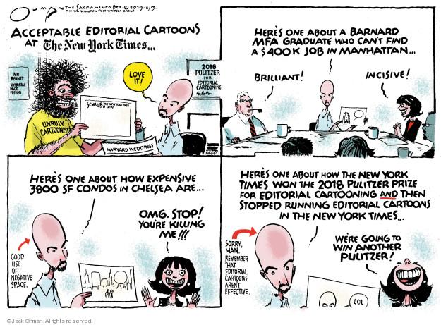 Cartoonist Jack Ohman  Jack Ohman's Editorial Cartoons 2019-06-13 run