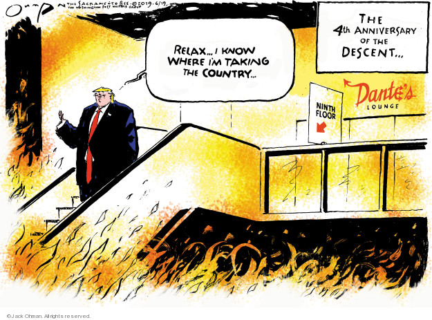 Cartoonist Jack Ohman  Jack Ohman's Editorial Cartoons 2019-06-19 candidacy