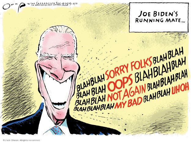 Jack Ohman  Jack Ohman's Editorial Cartoons 2019-06-21 Joe Biden