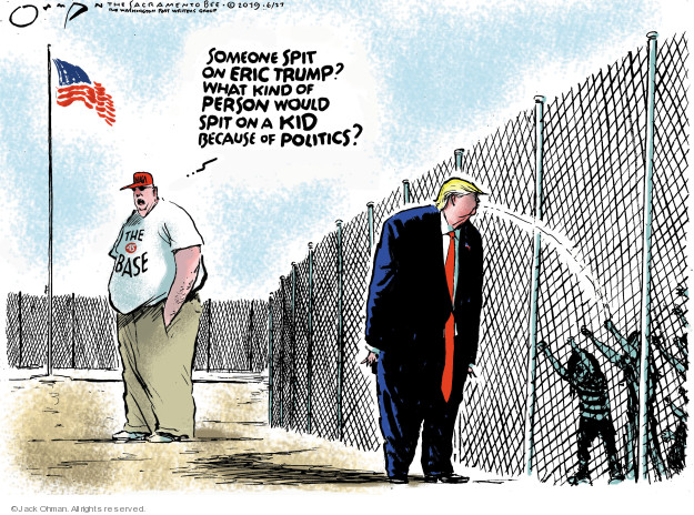 Cartoonist Jack Ohman  Jack Ohman's Editorial Cartoons 2019-06-27 Trump Family