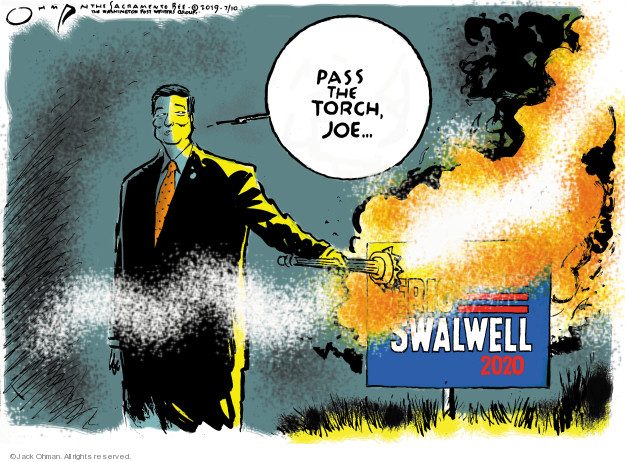 Jack Ohman  Jack Ohman's Editorial Cartoons 2019-07-10 Joe Biden