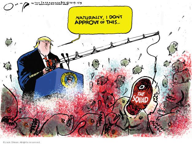 Cartoonist Jack Ohman  Jack Ohman's Editorial Cartoons 2019-07-20 attack