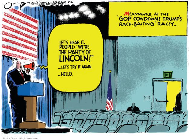 Jack Ohman  Jack Ohman's Editorial Cartoons 2019-07-23 administration