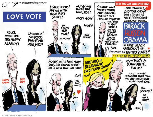 Cartoonist Jack Ohman  Jack Ohman's Editorial Cartoons 2019-07-28 2020 election Democratic debate