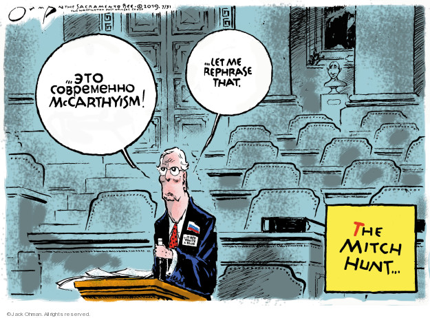 Cartoonist Jack Ohman  Jack Ohman's Editorial Cartoons 2019-07-31 interference
