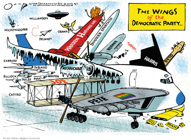 Jack Ohman  Jack Ohman's Editorial Cartoons 2019-08-01 Obama Biden
