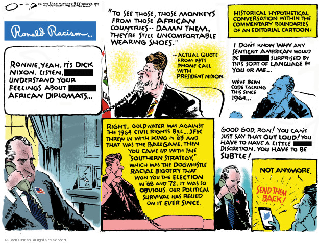 Cartoonist Jack Ohman  Jack Ohman's Editorial Cartoons 2019-08-04 Richard Nixon
