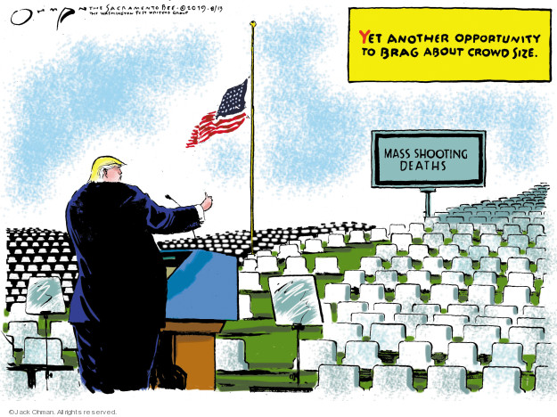 Cartoonist Jack Ohman  Jack Ohman's Editorial Cartoons 2019-08-13 gun rights