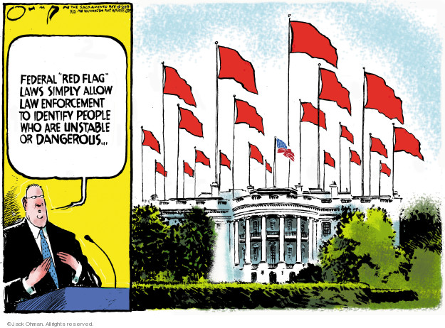 Cartoonist Jack Ohman  Jack Ohman's Editorial Cartoons 2019-08-22 gun rights