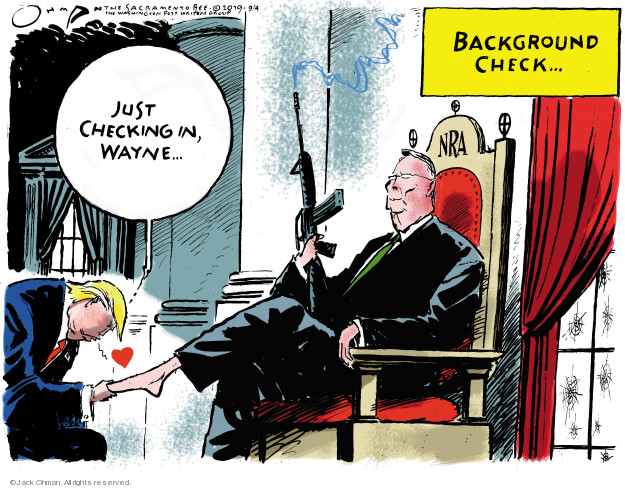 Cartoonist Jack Ohman  Jack Ohman's Editorial Cartoons 2019-09-04 gun rights