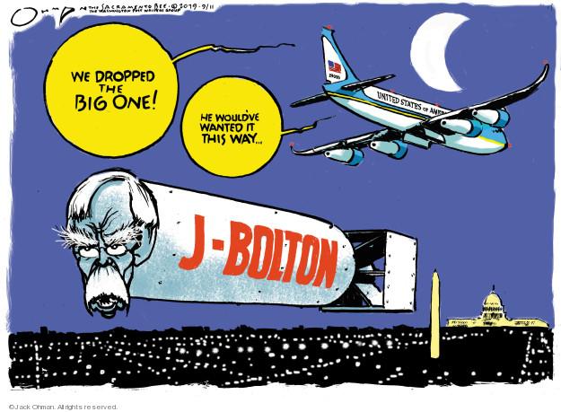 Cartoonist Jack Ohman  Jack Ohman's Editorial Cartoons 2019-09-11 editorial staff