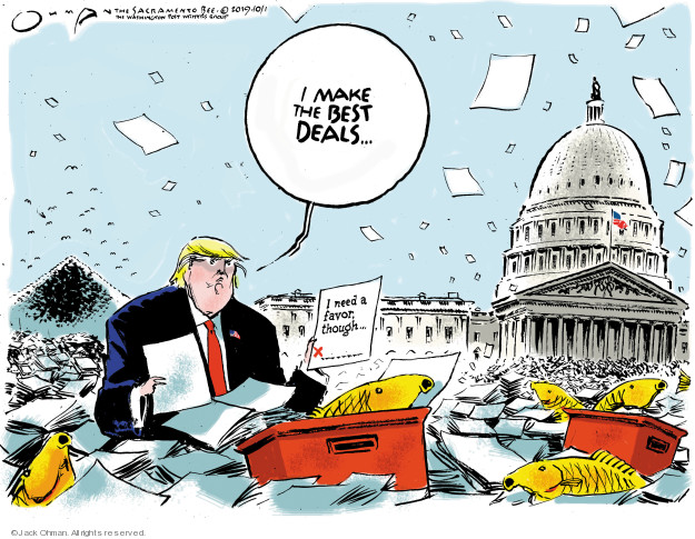 Cartoonist Jack Ohman  Jack Ohman's Editorial Cartoons 2019-10-01 Trump opposition