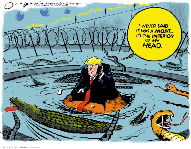 Cartoonist Jack Ohman  Jack Ohman's Editorial Cartoons 2019-10-04 border security
